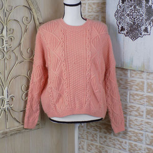 Top shop peach chunky knitted sweater